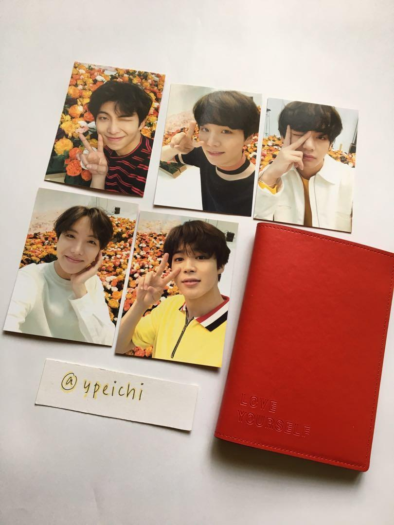 [WTS] BTS Love Yourself Word Tour Japan Edition Passport Case Mini Photocard