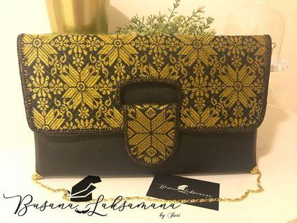 Clutch Songket Srikandi (black)