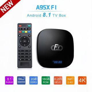 Android Tv box A95X F1 2g/16g Oreo 8.1- Youtube 4k