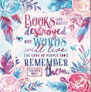 Enchanted Book Box Shatter Me Blanket