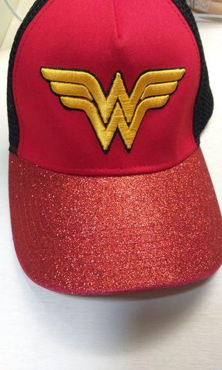 Wonder women red sparkly Cap
