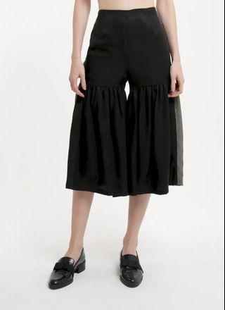 Olive & Black Half Gathered Pants Celana
