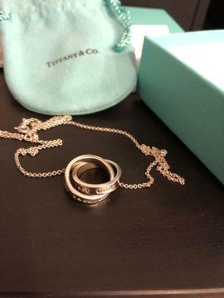 Tiffany & co 純銀頸鏈 necklace 二手9成新 100% real 有盒袋 有少量使用痕跡,可到專門店清潔