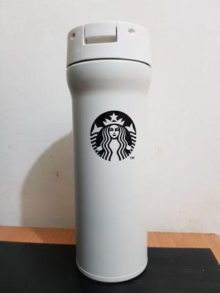 🚚 全新星巴克膳魔師不鏽鋼白品牌隨身瓶 保溫瓶免運