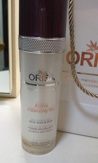 Orisa USA face cleansing gel with AHA&BHA