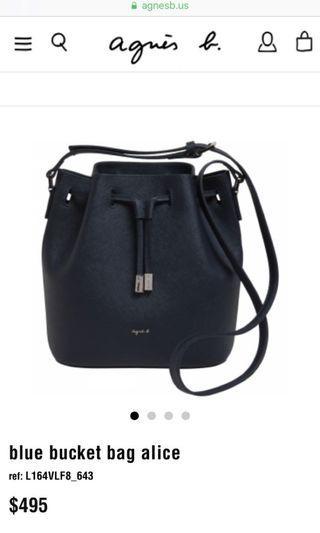 Agnès B bucket sling bag alice