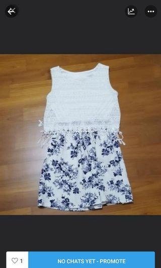 White Floral Dress #MRTPunggol