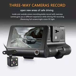 💥HOT💥1080P HD 3 Lens Car DVR Dash Cam G-Sensor Recorder+Rearview
