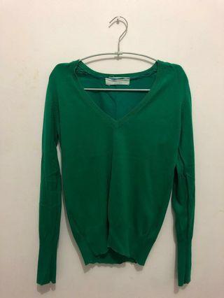 Zara Knit Sweater Warna Tosca