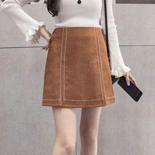 Suede high waist Skirt
