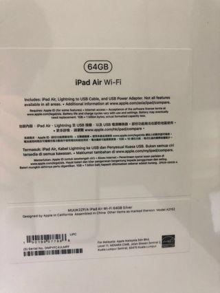 平價轉讓 Ipad Air 64G 銀色