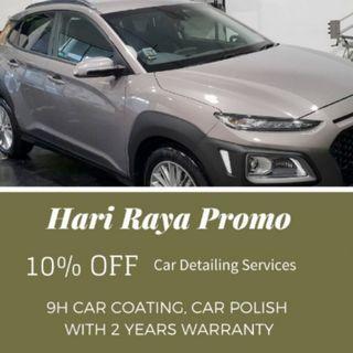 HARI RAYA PROMO: 10% OFF 9H CAR COATING FORMULATED FROM GERMANY !!