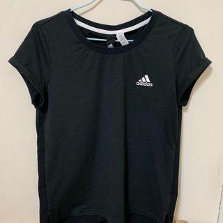全新 愛迪達adidas棉質透氣運動上衣 女 排汗短袖上衣