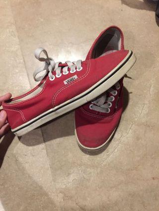 Vans Red Women's US6.5/UK4.5