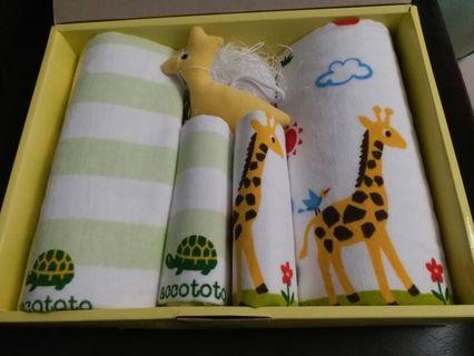 BB 嬰兒 毛巾禮盒裝 一盒 2 set 連公仔