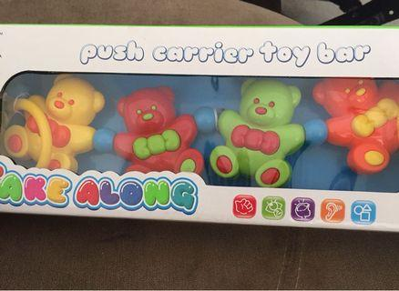 Push carrier toy bar