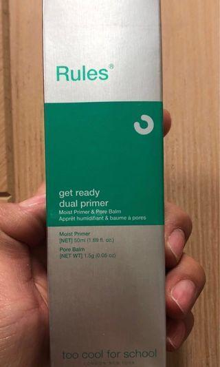 韓國100%全新Too cool for school雙重遮毛孔妝前打底霜Rules of pore get ready dual primer 50ml