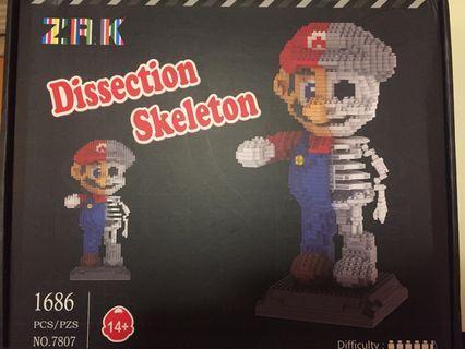 ZRK Mario 骷髏骨 LEGO/ nanoblock 模型