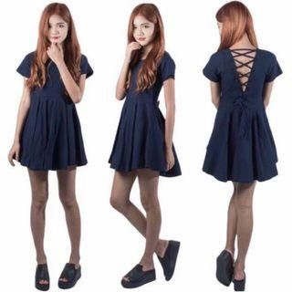🚚 Navy Blue Dress laced