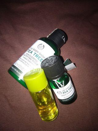 The body shop Tea Tree Oil Toner and Serum (bonus innisfree cleansing oil)