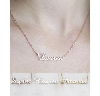 Custom made name necklace