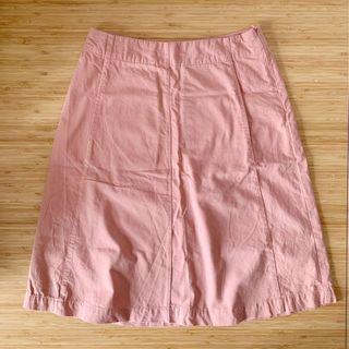🚚 LALU A-Line Skirt in Dusty Pink (Size S)