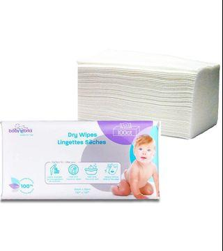 🚚 Preorder 100pcs Dry Wipes Pack