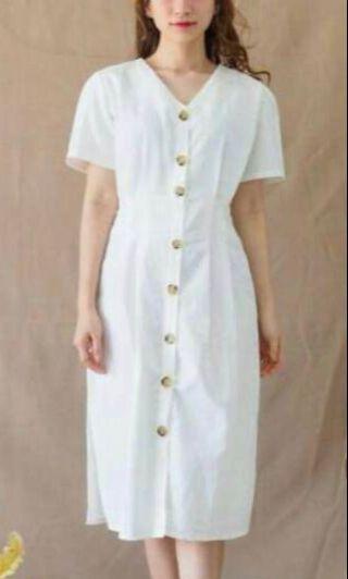 Button midi maxi dress