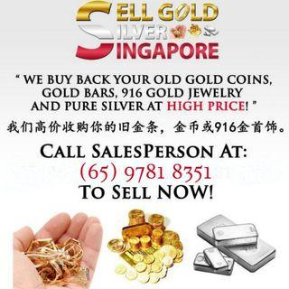 We buy 999.9 Pure Gold, Pure Silver or 916 gold jewellery for cash at High Price!