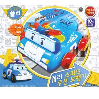 (Free Delivery) Robocar Poli Blue Speedy Poli Inflatable Baby Float Swimming Ring Seat with Steering Wheel