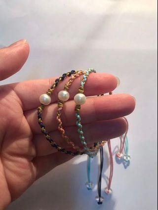 🔥母親節特惠💕純手工編織天然淡水珍珠手鍊
