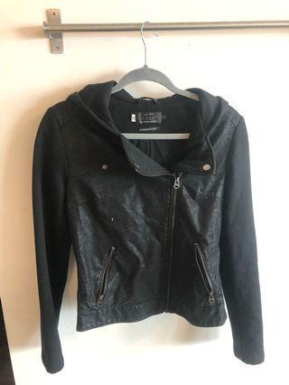 Black Moto Jacket Size Small