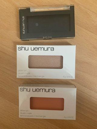 shu uemura glow on blushes with case NEW