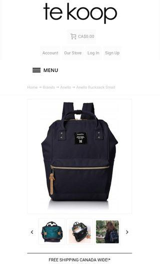 Anello Rucksack (Small/Navy)