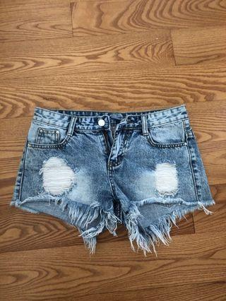 Ripped jean shorts - fits size 3 or 5