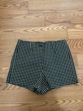 Yellow grid pattern shorts - fits size 3 or 5