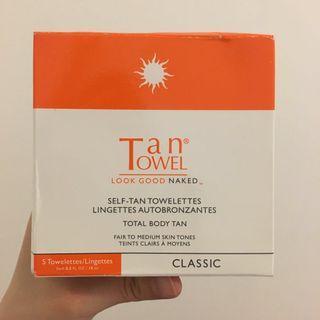 Self-tan towelettes total body tan from Tan Towel