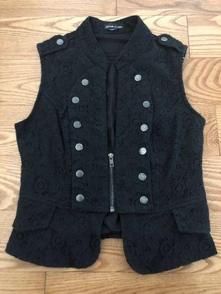 Lacy military style vest - size xs
