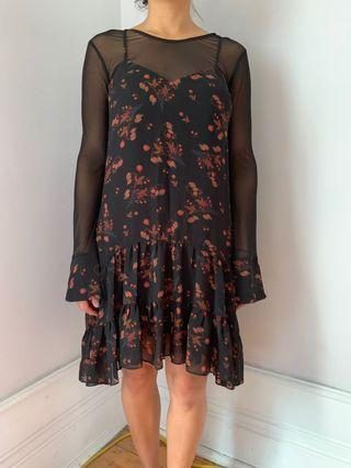 BCBGeneration floral black dress