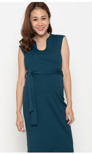 Jump Eat Cry ooking Smart Pencil Nursing Dress in Green  L