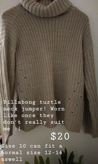 Billabong turtle neck jumper