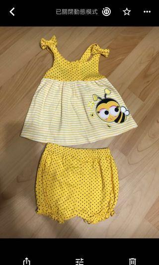🚚 Carter's 6m 可愛蜜蜂裝
