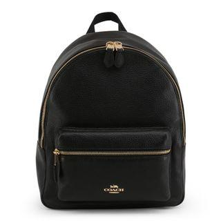 Leather Black Coach Backpack