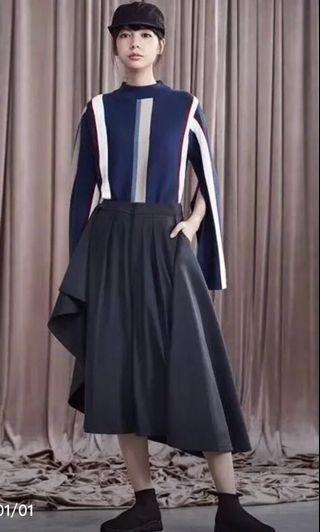 Initial 17極速斷貨深藍色裙褲