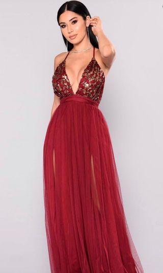 Fashion Nova Red Maxi Dress