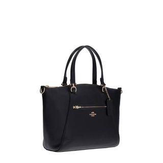 Black Coach Leather Tote Bag