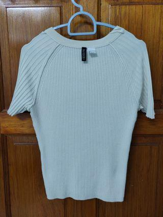 H&M Top Divided cream/ white color