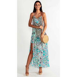 Camilla inspired chiffon maxi dress - Size L