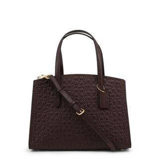Textured Brown Coach Tote Bag