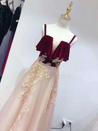 2019 New Arrival  elegant  bling  bling  evening gown  晚裝